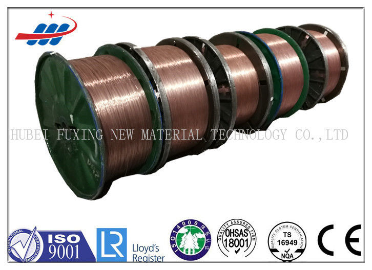 Round High Carbon Copper Coated Steel Wire / Tyre Bead Wire High Tenacity