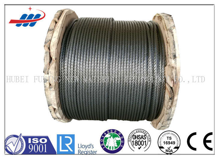Ungalvanized ZS Lay Elevator Wire Rope 1370/1770MPA With 6-13mm Gauge